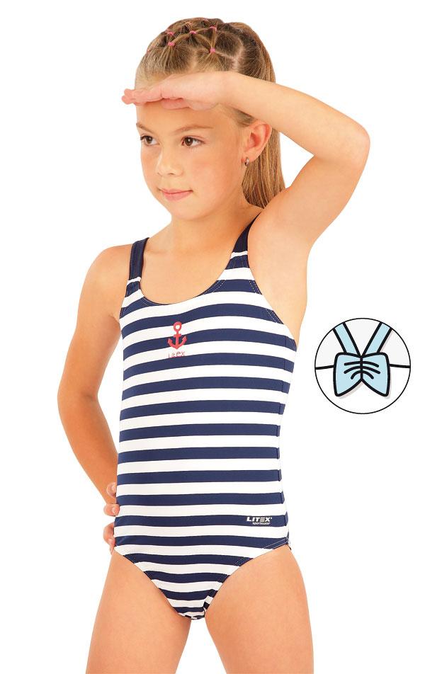 Jednodílné dívčí plavky. 63617 | Dívčí plavky LITEX