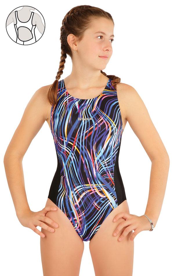 Dívčí jednodílné sportovní plavky. 63632 | Dívčí plavky LITEX