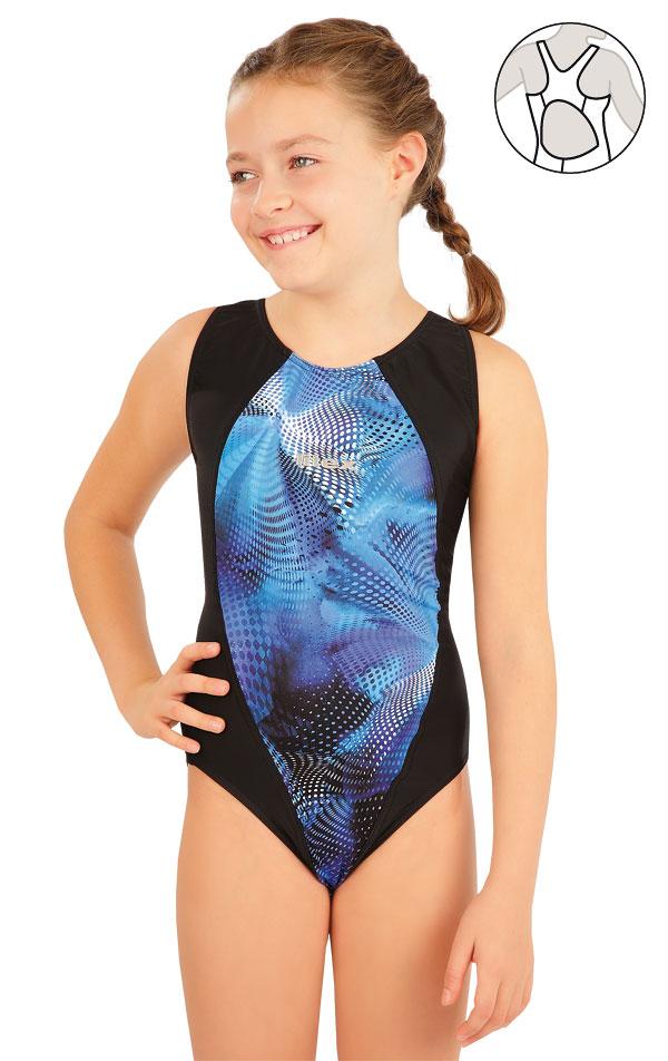 Dívčí jednodílné sportovní plavky. 63637 | Dívčí plavky LITEX