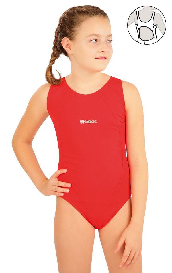 Dívčí jednodílné sportovní plavky. 63640   Dívčí plavky LITEX