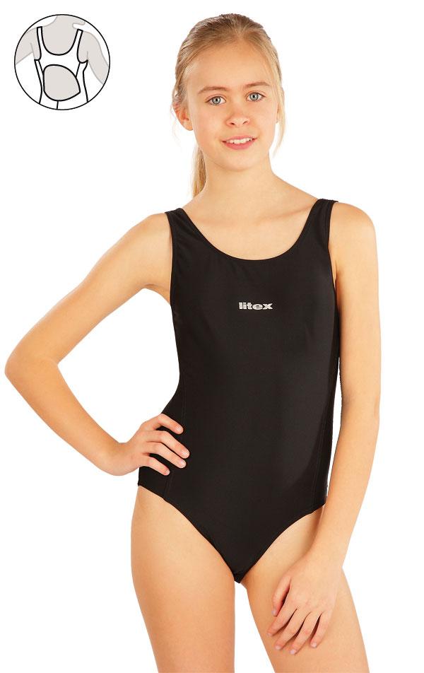 Dívčí jednodílné sportovní plavky. 63643 | Dívčí plavky LITEX