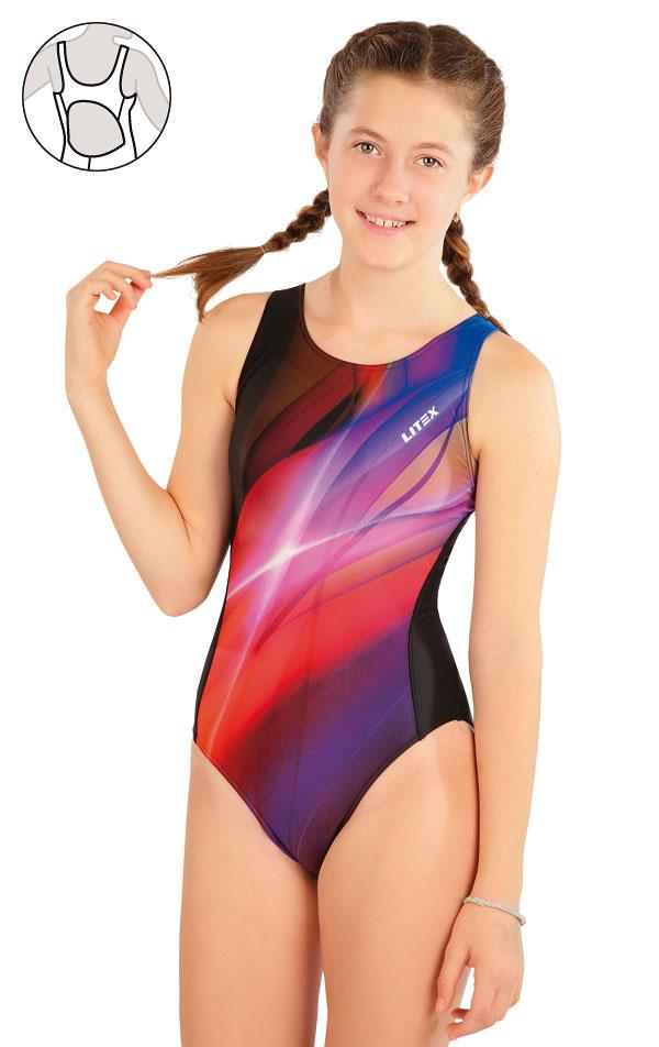Dívčí jednodílné sportovní plavky. 63646 | Dívčí plavky LITEX