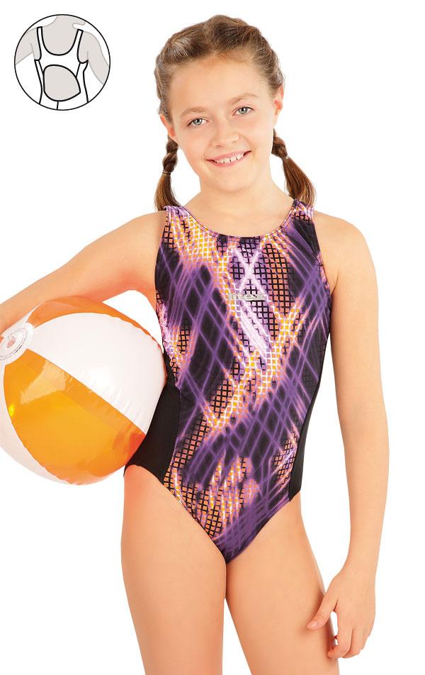 Dívčí jednodílné sportovní plavky. 63649 | Dívčí plavky LITEX