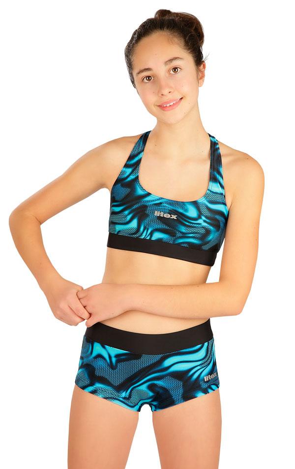 Dívčí plavky kalhotky bokové s nohavičko 6B439 | Dívčí plavky LITEX