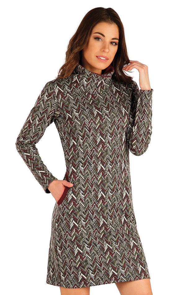 Mikinové šaty s dlouhým rukávem. 7A048   Šaty, sukně, tuniky LITEX