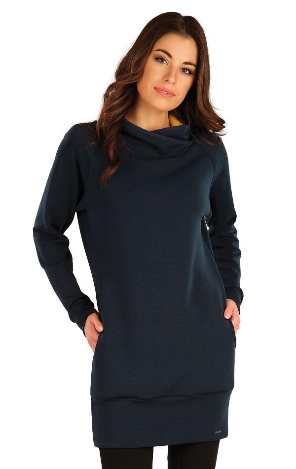 Mikinové šaty s dlouhým rukávem. 7A127 | Mikiny a roláky LITEX