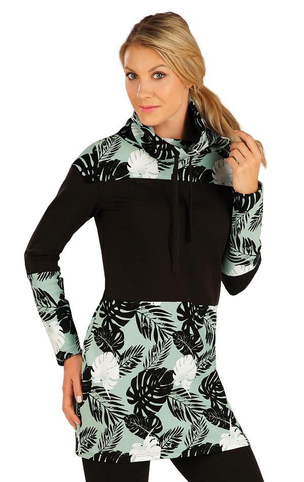 Mikinové šaty s dlouhým rukávem. 7A322 | Mikiny a roláky LITEX