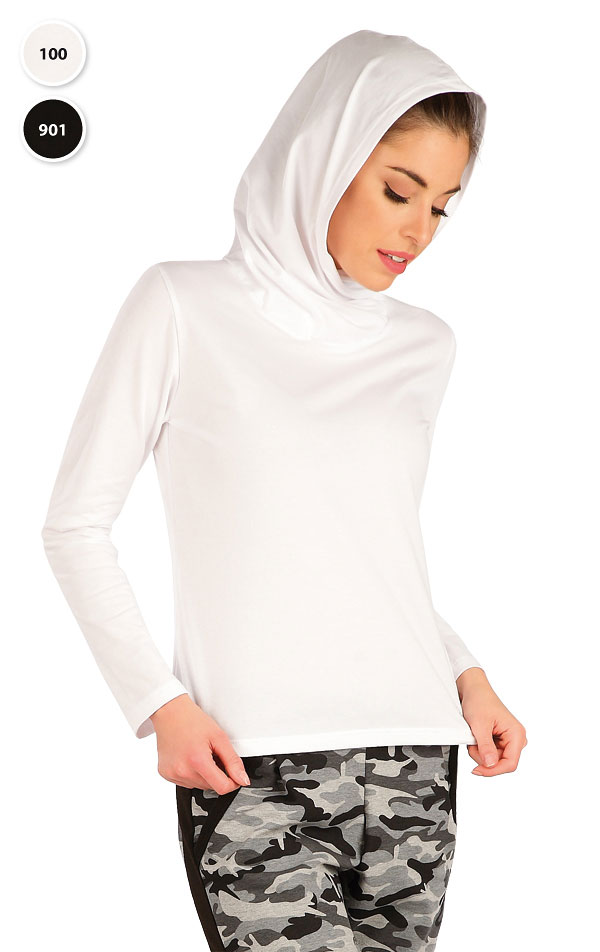 Tričko dámské s překříženou kapucí. 7A364 | Tílka, trička, halenky LITEX