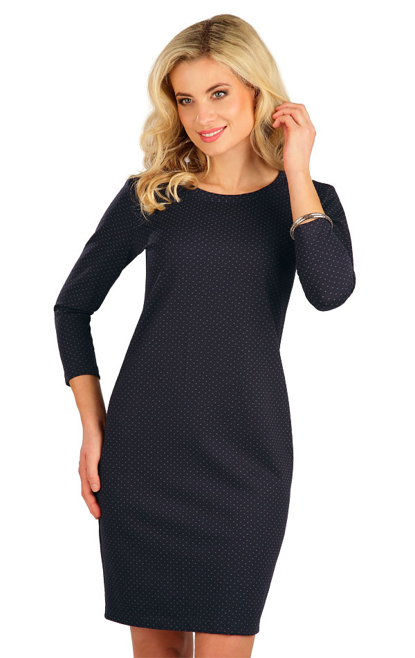 Šaty dámské s 3/4 rukávem. 7B002   Šaty, sukně, tuniky LITEX