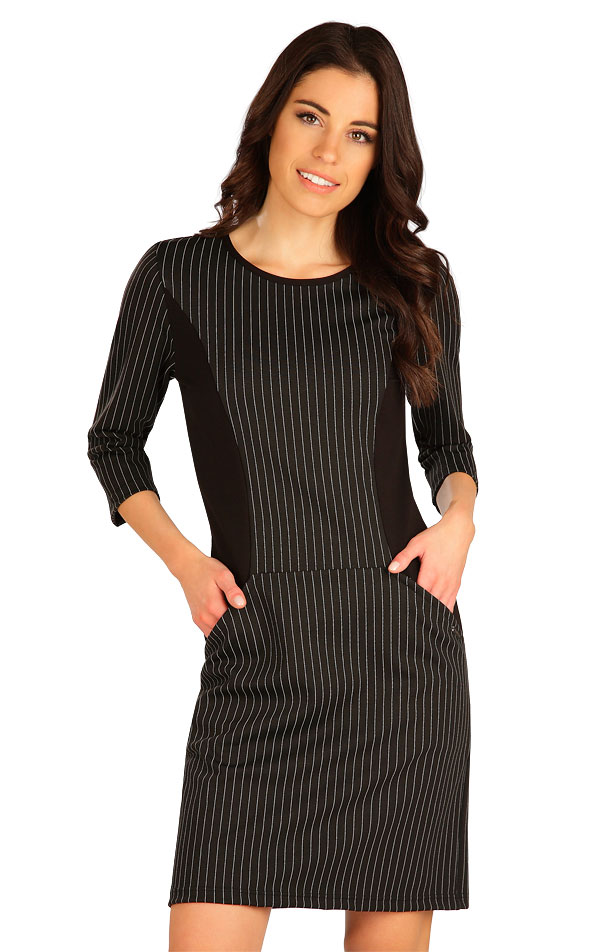 Šaty dámské s 3/4 rukávem. 7B053   Šaty, sukně, tuniky LITEX