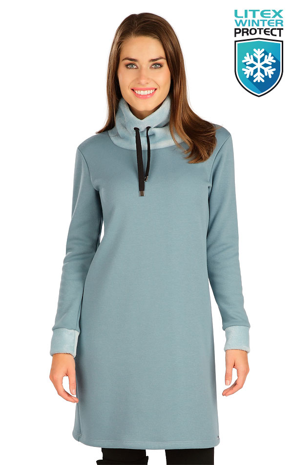Mikinové šaty s dlouhým rukávem. 7B109 | Šaty, sukně, tuniky LITEX