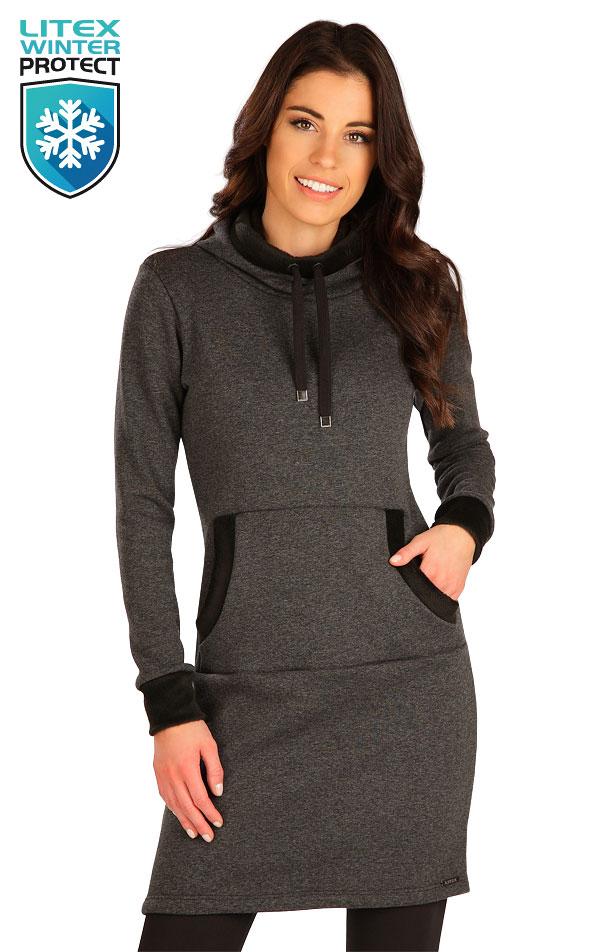 Mikinové šaty s dlouhým rukávem. 7B122 | Šaty, sukně, tuniky LITEX