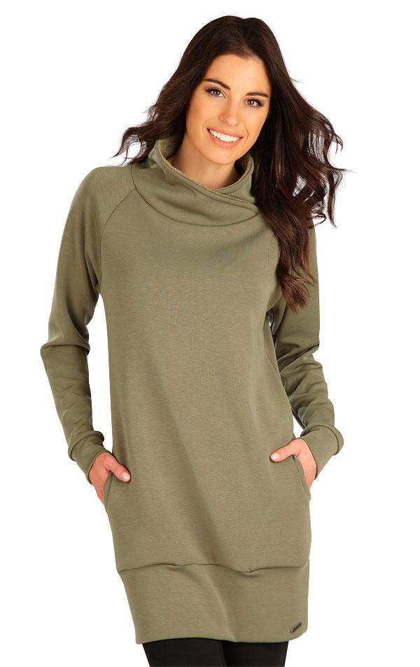 Mikinové šaty s dlouhým rukávem. 7B136   Šaty, sukně, tuniky LITEX