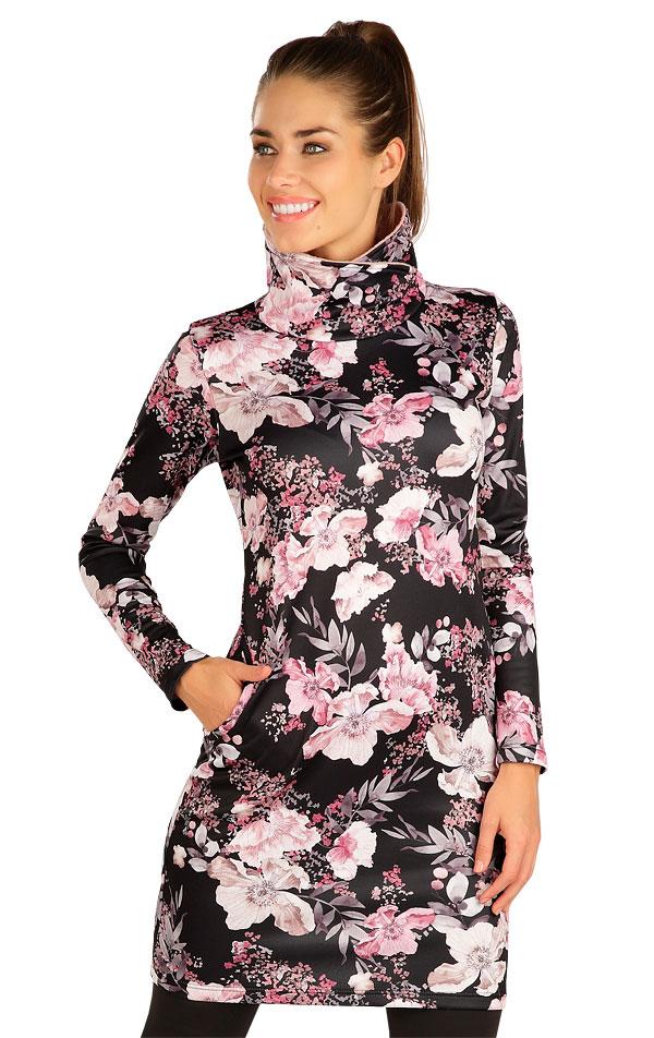 Mikinové šaty s dlouhým rukávem. 7B168   Šaty, sukně, tuniky LITEX