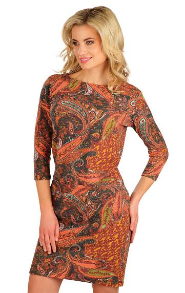 Šaty dámské s 3/4 rukávem.