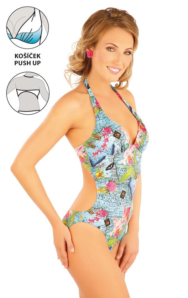 209383381f Jednodílné plavky s košíčky push-up. 88198