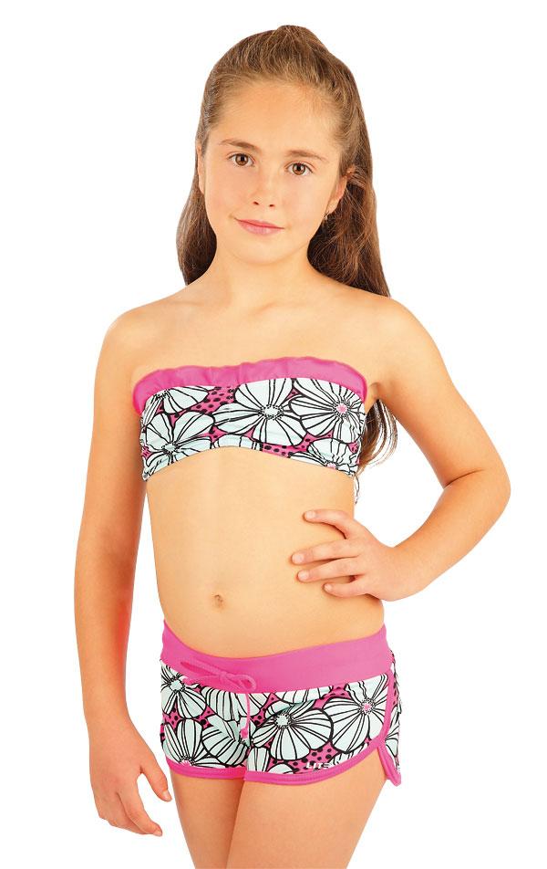 Dívčí plav.podprsenka BANDEAU bez výztuž 88448 | Dívčí a dětské plavky LITEX