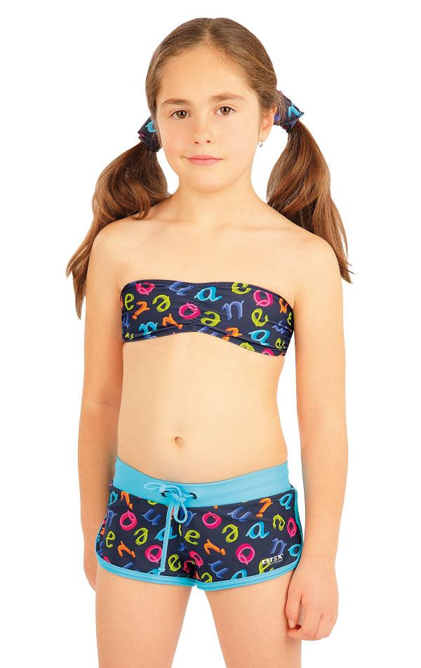 Dívčí plav.podprsenka BANDEAU bez výztuž 88484 | Dívčí a dětské plavky LITEX
