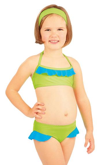 Dívčí plavky top s volánkem.