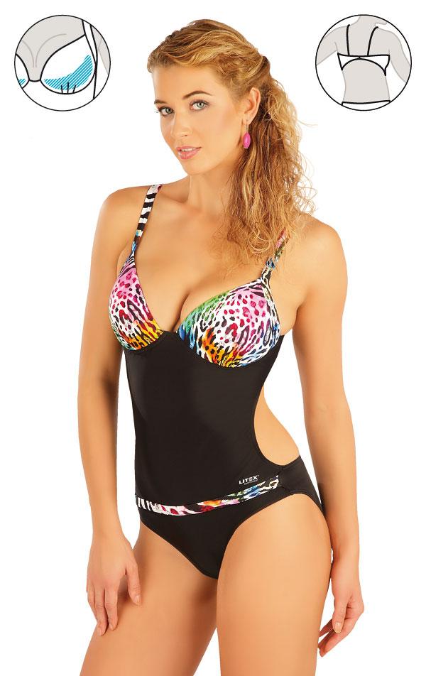 Jednodílné plavky s košíčky. 93199 | Jednodílné plavky LITEX