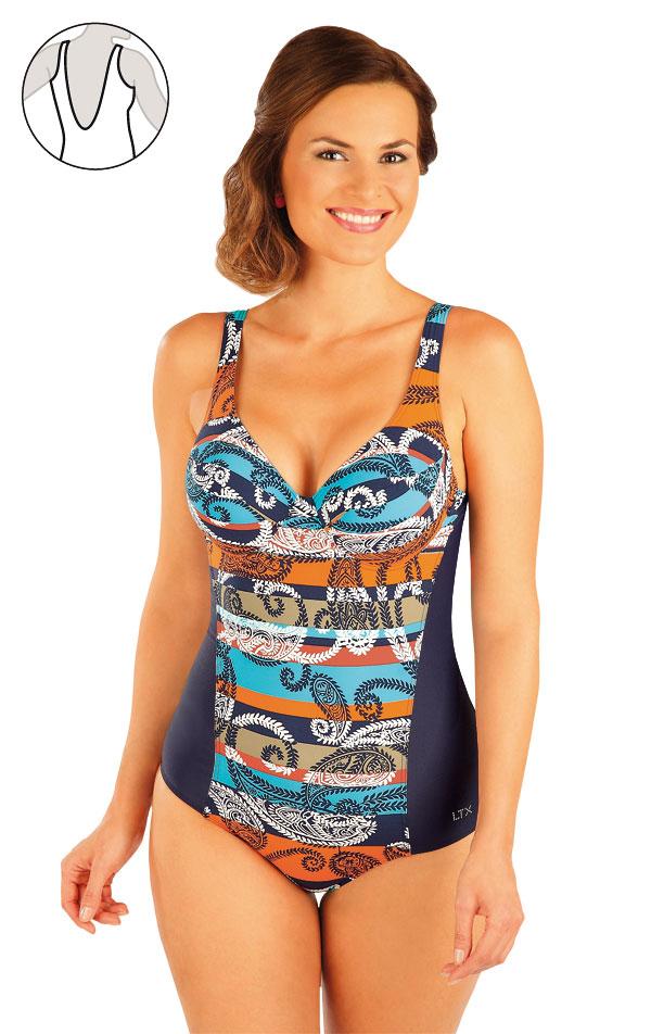 Jednodílné plavky s kosticemi. 93399 | Jednodílné plavky LITEX