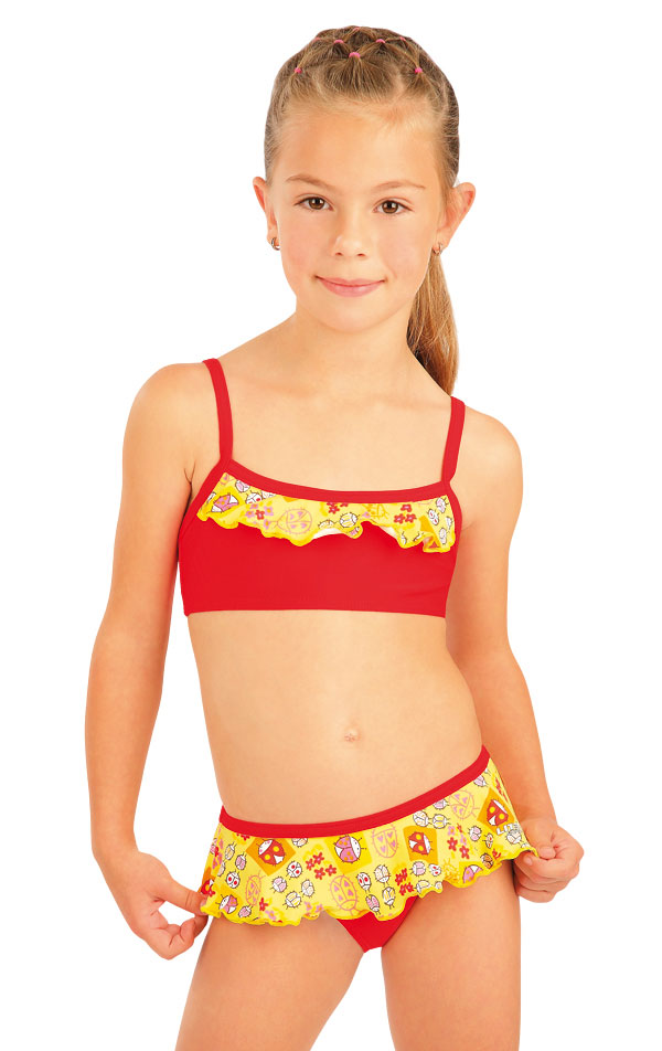 Dívčí plavky top s volánkem. 93568 | Dívčí a dětské plavky LITEX