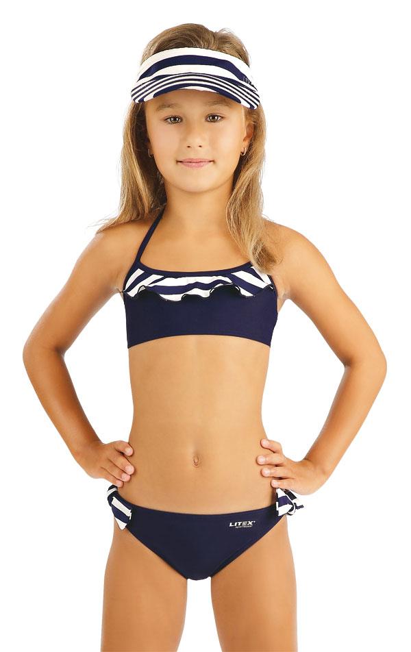 Dívčí plavky top s volánkem. 93574 | Dívčí plavky LITEX