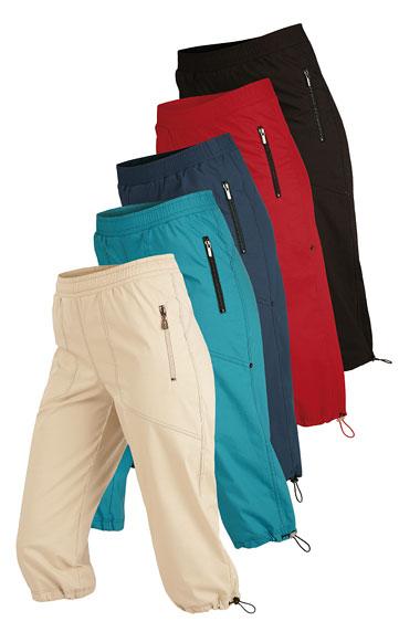 Kalhoty dámské v 3/4 délce do pasu.