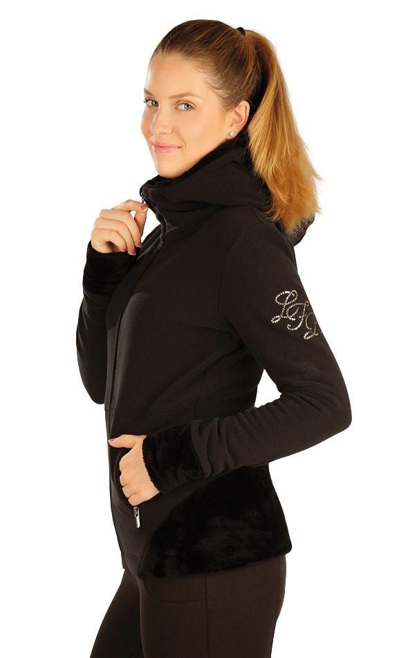 Bunda dámská s kapucí. J1155 | Mikiny a vesty LITEX