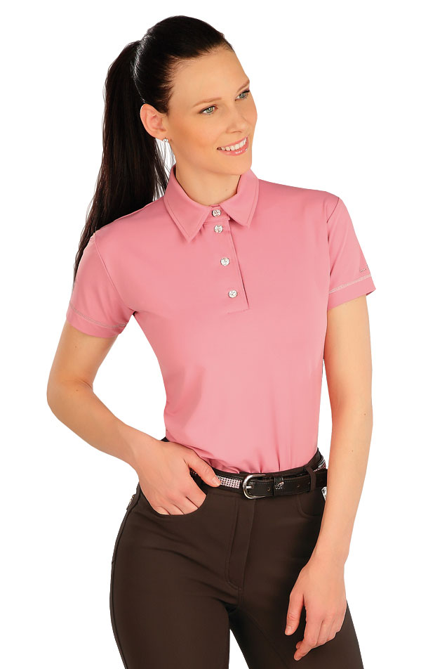 Polo tričko dámské s krátkým rukávem. J1246 | Jezdecká trika LITEX