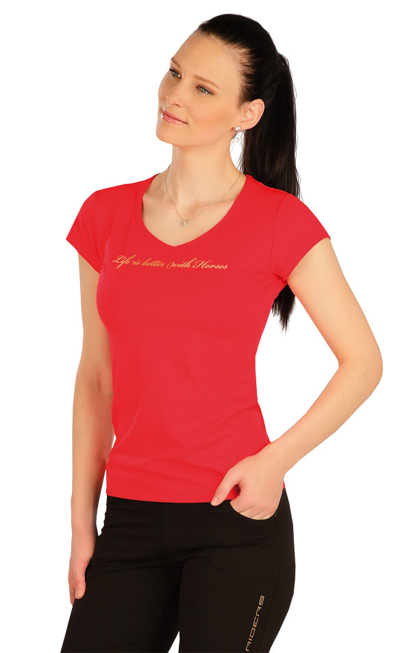 Tričko dámské s krátkým rukávem. J1254 | Jezdecká trika LITEX