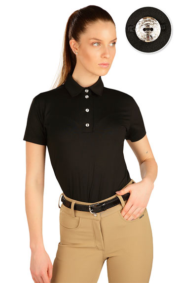 Polo triko dámské s krátkým rukávem.